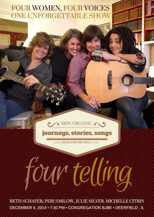 FourTelling is headed to the URJ Biennial on November 5th