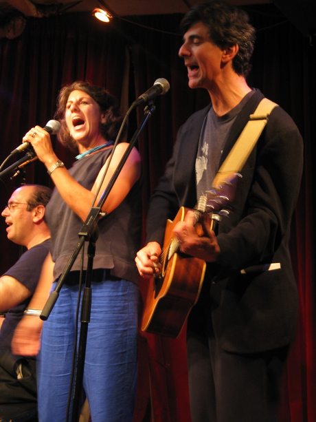 Peri with husband Budd in concert