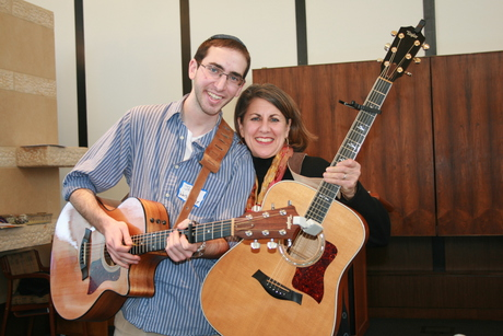 Peri Smilow and Josh Warshavsky at Congregation Beth El, South Orange, NJ