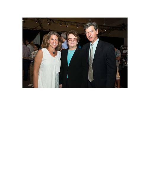 Peri with Budd Mishkin and Billy Jean King