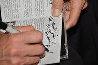 Peri Smilow signs autograph