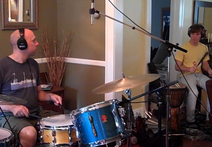 Ben Whittman and Cameron Wisch record drums for Peri Smilow039s BLESSINGS